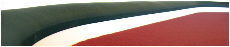 Pokertisch: Rail Black, Playing Surface Burgandy