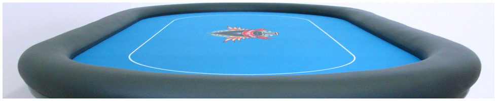 Pokertisch: Rail Black, Playing Surface Dye-Sublimation